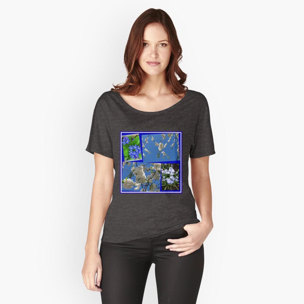 Schön Blau - Blüten und Blumen der Frühlings-Collage Loose Fit T-Shirt