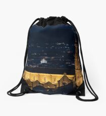 Night view of the Basilica of the Holy Cross (Basilica di Santa Croce) Drawstring Bag