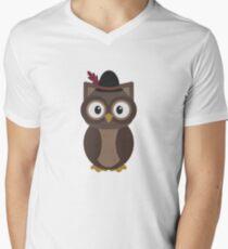 Hipster Owl Men's V-Neck T-Shirt