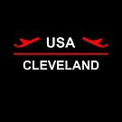 Cleveland USA Airport Plane Dark Color by TinyStarAmerica