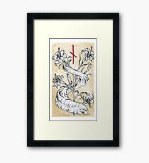 Elder Futhark 10. Naudiz by Haunting Beauty Art Framed Print