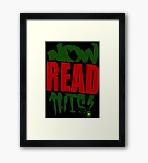 NOWreadTHIS Framed Print