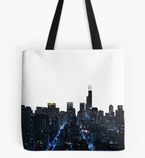 Chicago Skyline Blue Gotham theUPgallery Tote Bag