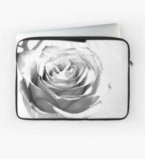 Black and White Rose Laptop Sleeve
