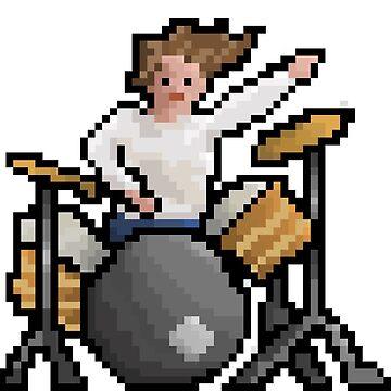 Zach Hill Pixel by socialistflower