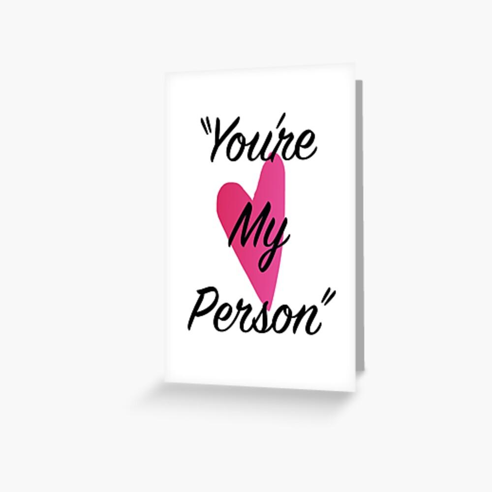 Du bist meine Person Grußkarte