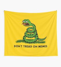 Don't Tread on Memes -Triggered Pepe- Wall Tapestry