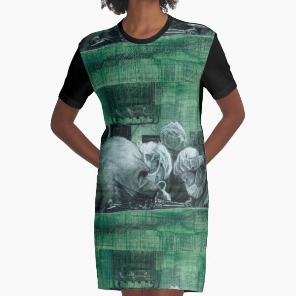 Intensity - original work - charcoal pastel on watercolour by Avril Thomas Graphic T-Shirt Dress