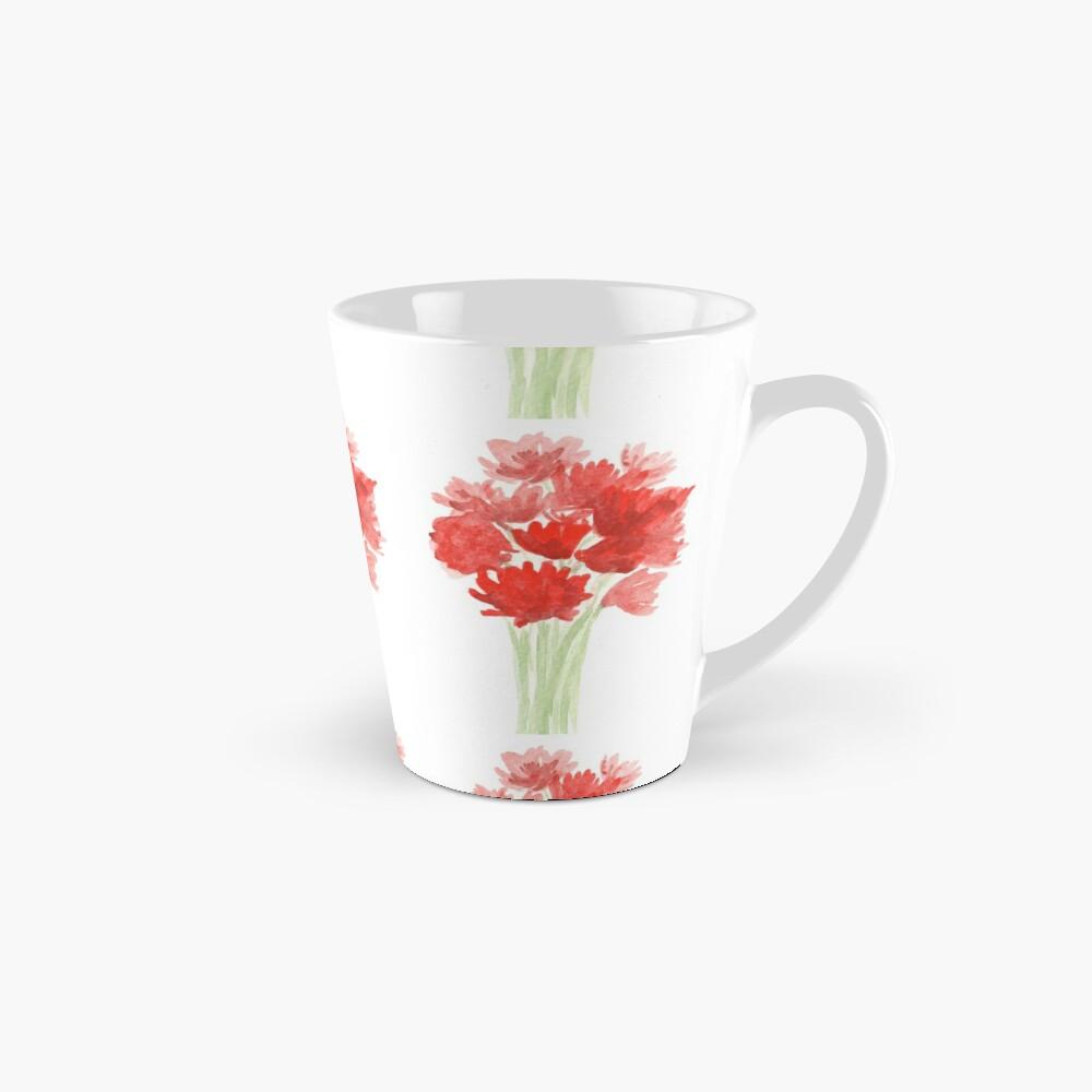 Red Azalea Flower Bouquet original watercolor painting Mug