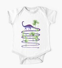 Prehistoric beauty Short Sleeve Baby One-Piece
