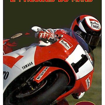 DU MANS : Vintage 1992 Motorcycle Racing Print by posterbobs