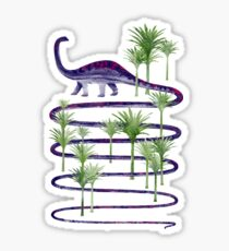 Dinosaur walk (Prehistoric beauties) Sticker