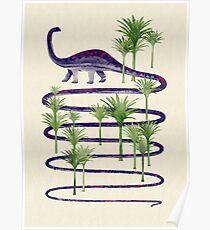 Dinosaur walk (Prehistoric beauties) Poster