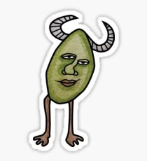Green Raisin Devil Sticker