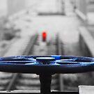 train wheel by Janis Read-Walters