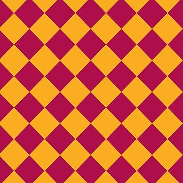 Maroon and Gold Geometric by STHogan