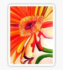 Red Gerbera flower watercolor art Sticker