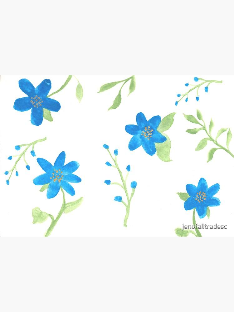 Vibrant Blue Flowers by jenofalltradesc