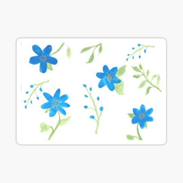 Vibrant Blue Flowers Sticker