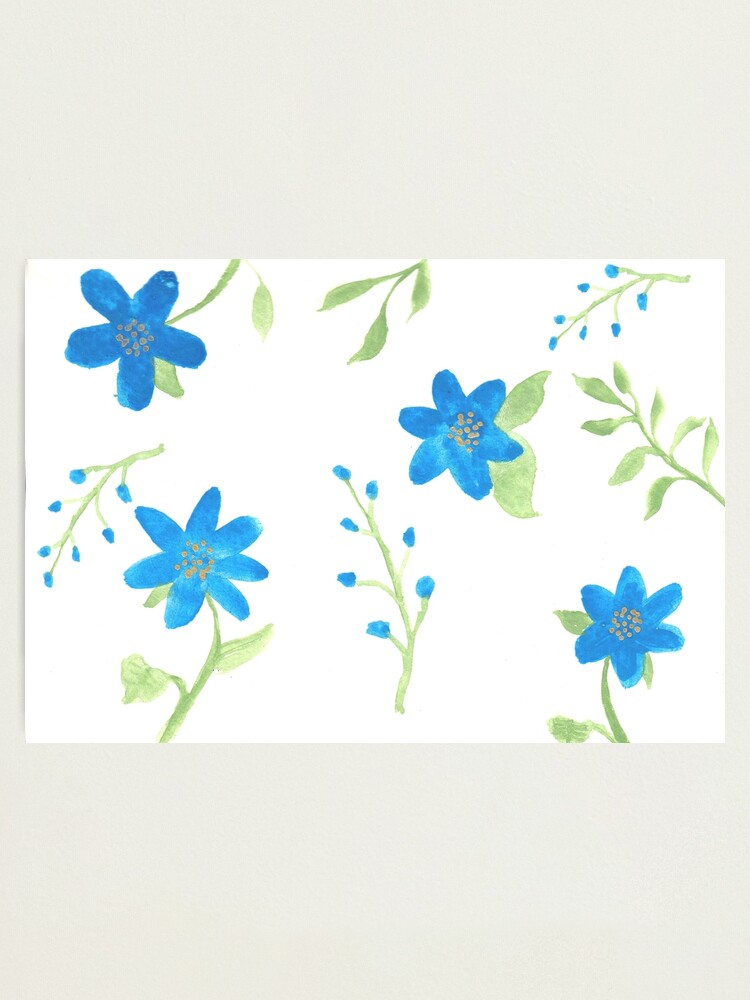 Alternate view of Vibrant Blue Flowers Photographic Print
