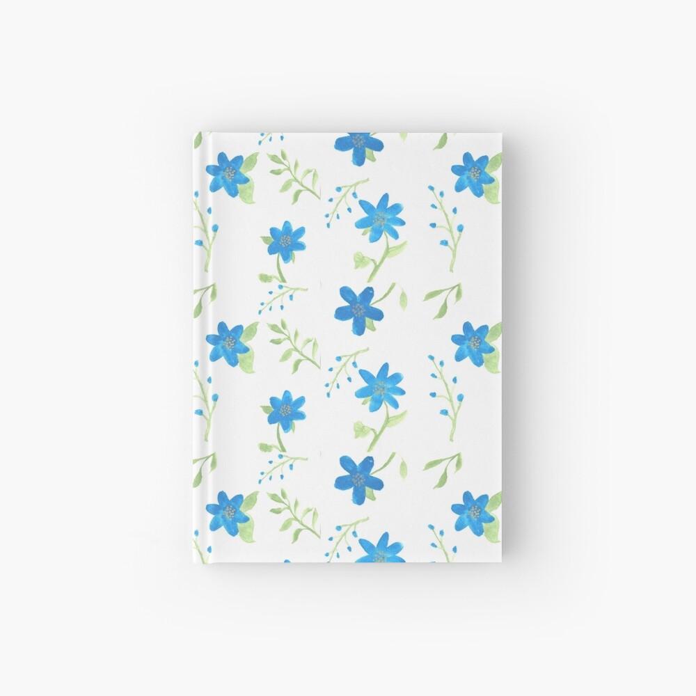 Vibrant Blue Flowers Hardcover Journal