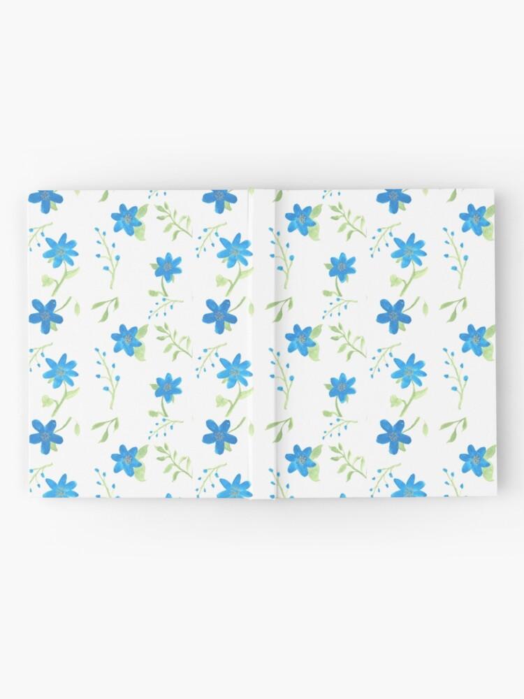 Alternate view of Vibrant Blue Flowers Hardcover Journal