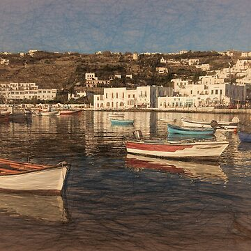 Boats of Mykonos by photograham