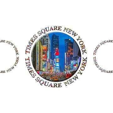 Times Square New York Triple Emblem (on white) by RayW