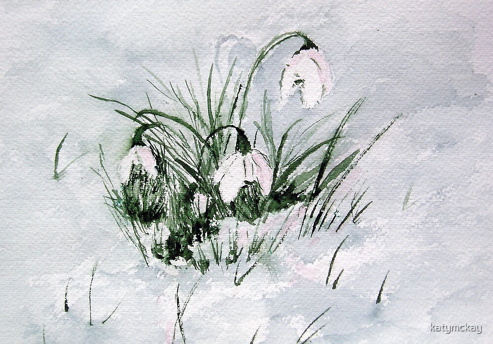 Quot Snowdrops Quot By Katymckay Redbubble