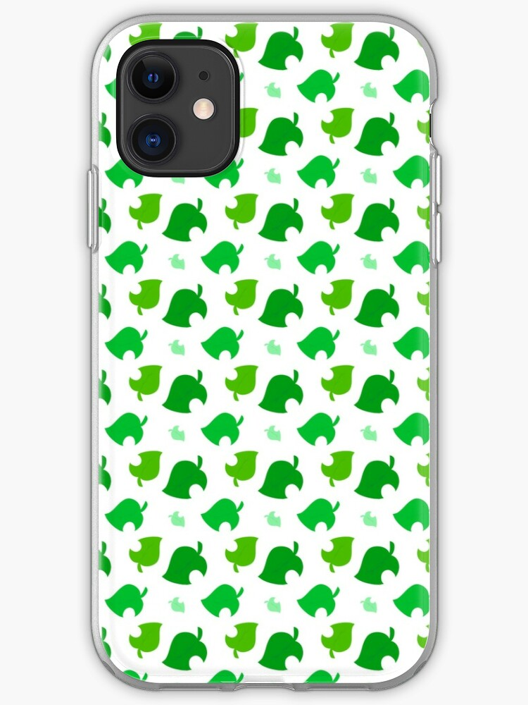 Animal Crossing Leaves Iphone Case Cover By Peasantsscream Redbubble
