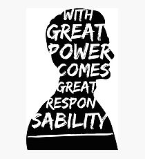 Great Power (Andrew Garfield) Photographic Print