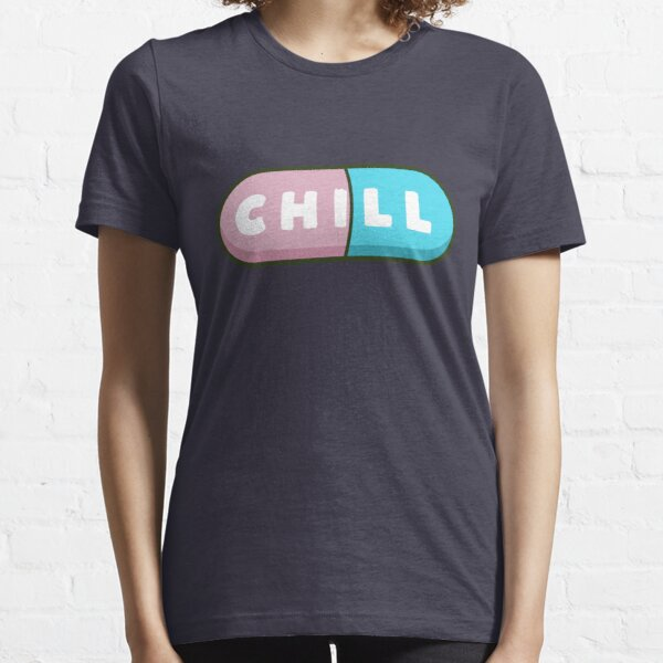 Cute and kawaii happy chill pills  Essential T-Shirt