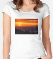 SkyHigh at Sunset Fitted Scoop T-Shirt