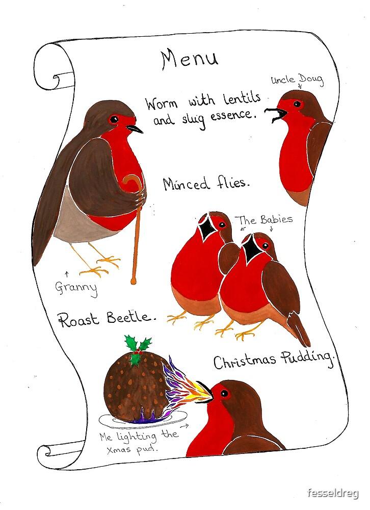 Fire Robin's Christmas Menu by fesseldreg