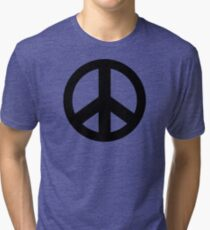 Peace Sign Symbol T-Shirt Tri-blend T-Shirt