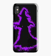Evil halloween purple and black silhouette iPhone Case