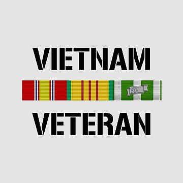 Vietnam Veteran Ribbon Bar by warishellstore