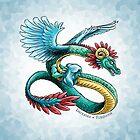 Birthstone Dragon: December Turquoise Illustration by Stephanie Smith