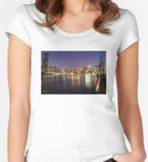 Docklands night Fitted Scoop T-Shirt