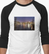 Docklands night Baseball ¾ Sleeve T-Shirt