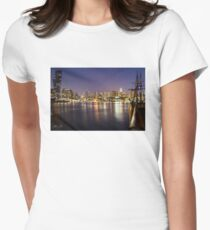 Docklands night Fitted T-Shirt