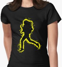 Silhouette fit yellow and black silhouette Women's Fitted T-Shirt