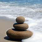 Brown Zen Stone Stack by Tom Deters
