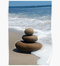 Brown Zen Stone Stack Poster