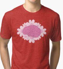 Brains N' Daisies  Tri-blend T-Shirt