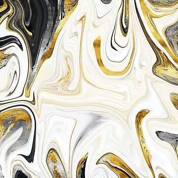 Metalsmith Latte swirling abstract marble art by Glimmersmith