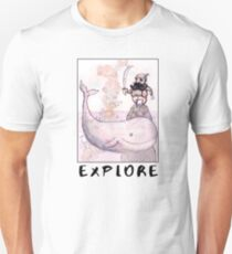 Explore (Pirate and Whale) Unisex T-Shirt