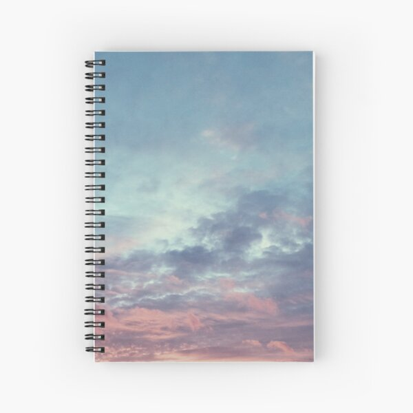 Pink Purple and Blue Summer Sunset Spiral Notebook