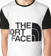 Black The Nort Face Logo Graphic T-Shirt