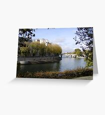 Ile-St-Louis from Across the Seine Greeting Card